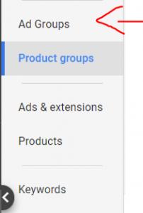 גוגל שופינג קבוצות מודעות